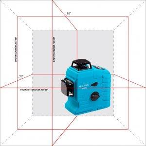 Лазерный нивелир в аренду, 3 линии на 360°