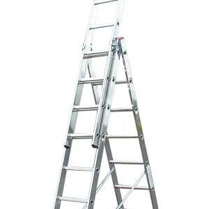 Трехсекционная алюминиевая лестница в аренду